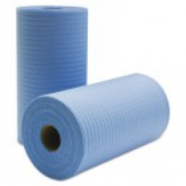 RAG ON A ROLL BLUE (70M - Perforated 24.5cm x 35cm)