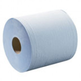 JUMBO PAPER TOWEL ROLL BLUE (1000 Sheets - Perforated 38cm x 38cm)