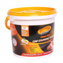 CAR CARE GREASE WET WIPES (25cm x 30cm x 120)