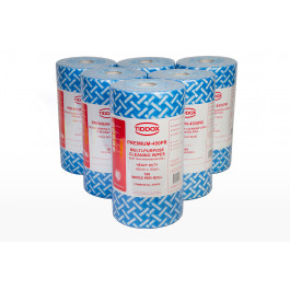 HOSPITALITY BLUE WIPES-ON-A-ROLL (90 pce x 4 Rolls)